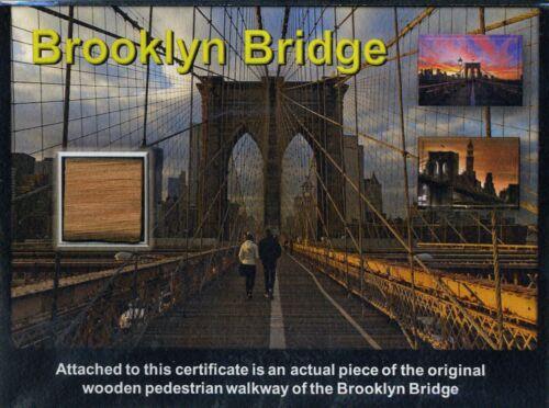 Genuine Piece of the World Famous Brooklyn Bridge on Gorgeous COA - WOW!