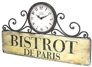 Style ancienne horloge de gare cuisine salon bar d entr e - Horloge murale style gare ...