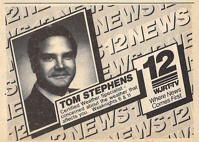 1986 Wjrt Tv News Ad Tom Stephens Weather Flint Michigan Channel 12