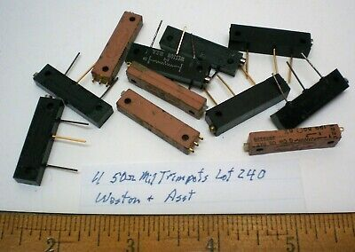 11 Trim Pots Military 50 Ohms Assorted Weston Others Lot 240 Made In Usa