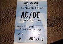 AC/DC Tickets MUST SELL $100ea Wednesday 4th Nov Show Lambton Newcastle Area Preview