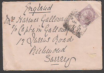 Great Britain - 1911 cover mailed on ship - cancelled Cape of Good Hope