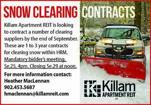 Killam Is Looking For SNOW REMOVAL! Contact Us For More Info!