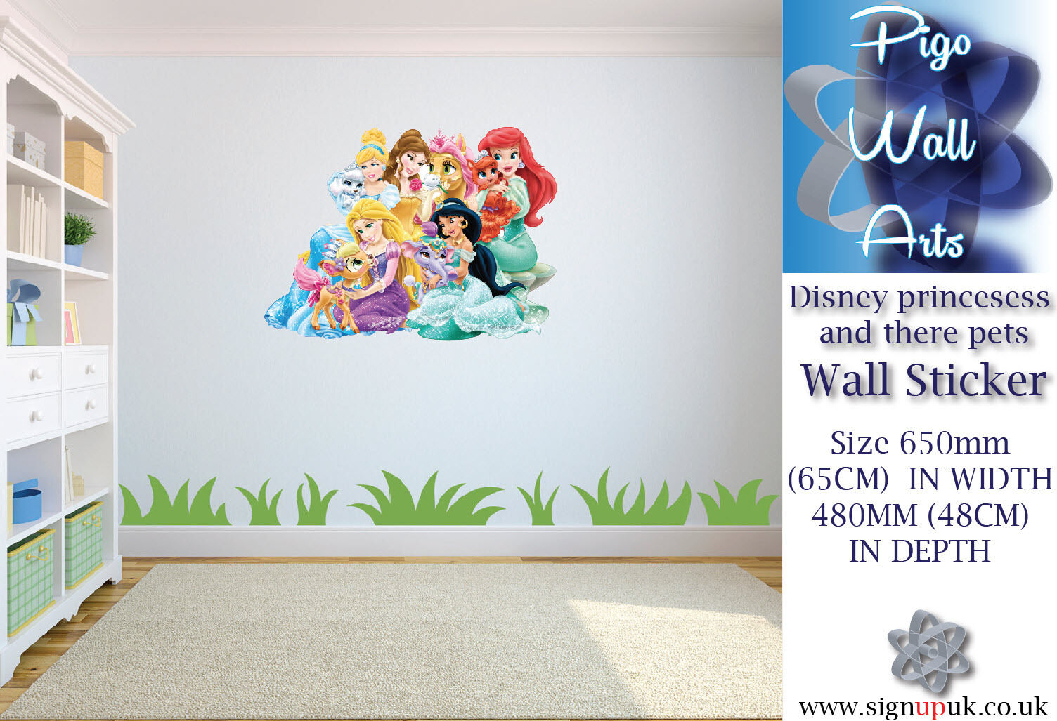 disney princesses children s bedroom wall sticker bedroom childrens kids themed wall decor room stickers sets