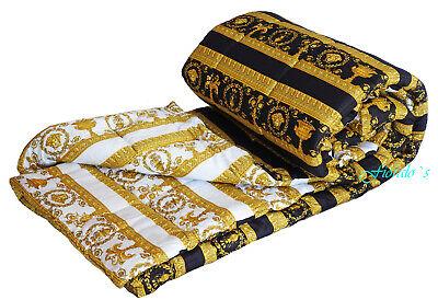 VERSACE Baroque Medusa Comforter King Size  - quilted -