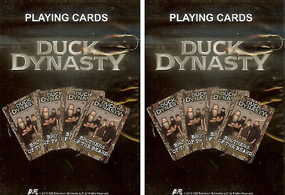 Duck Dynasty Playing Cards Licensed Jase Willie Si Phil Commander A&E 2 Pack New Collectibles