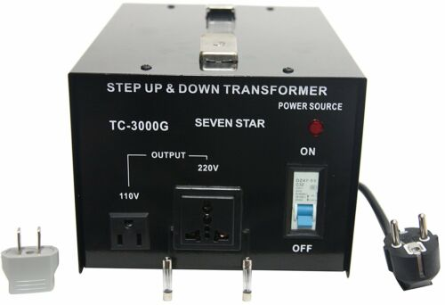 Seven Star TC-3000 110/120/220/240-Volt Step Down up Transformer 3000W Watt