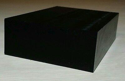 Black Delrin (Acetal) block