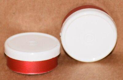 20mm Aluminum Plain Flip Top Serum Vial Seals White On Red - Qty. 25