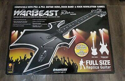 DreamGear WARBEAST PS3/PS2 Wireless Guitar Hero Original Full Size No Dongle