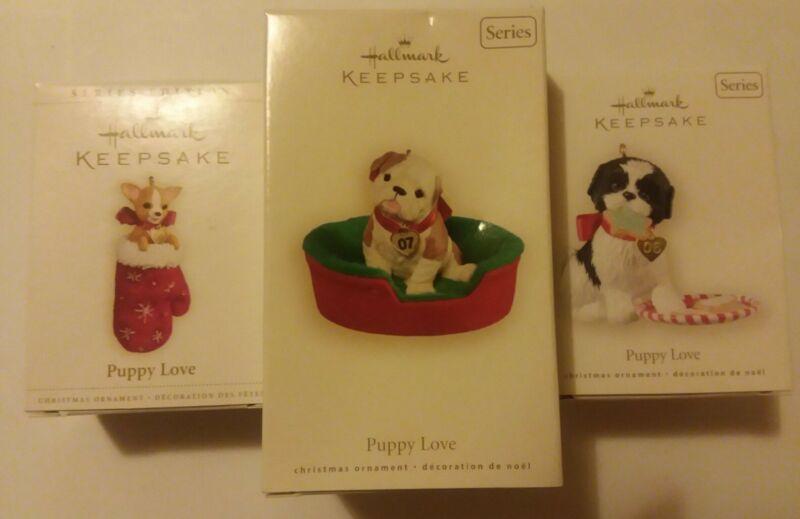 Hallmark Ornament Series Puppy Love 2006-2008 #