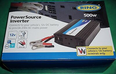 Ring Power Source Power Inverter 500w With USB