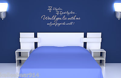 If I Lay Here   Vinyl Wall Art Saying Decal Romantic Love Song Quote Decor
