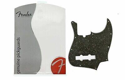 FENDER JAZZ BASS BLACK GLASS SPARKLE 10 HOLE 4-PLY PICKGUARD 099-2178-00 NEW!