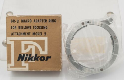 NOS - Nikon Reversed Lens Filter Adapter Ring BR-3 For Macro & Bellows Use