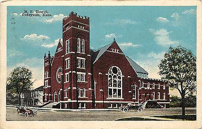 Vintage Postcard Methodist Episcopal Church M E  Coffeyville Ks Montgomery Co