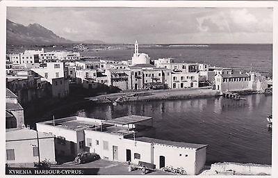 CYPRUS POSTCARD KYRENIA HARBOUR PANTELIDES EARLY 1950 s
