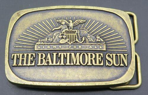 The Baltimore Sun Newspaper Vintage Belt Buckle