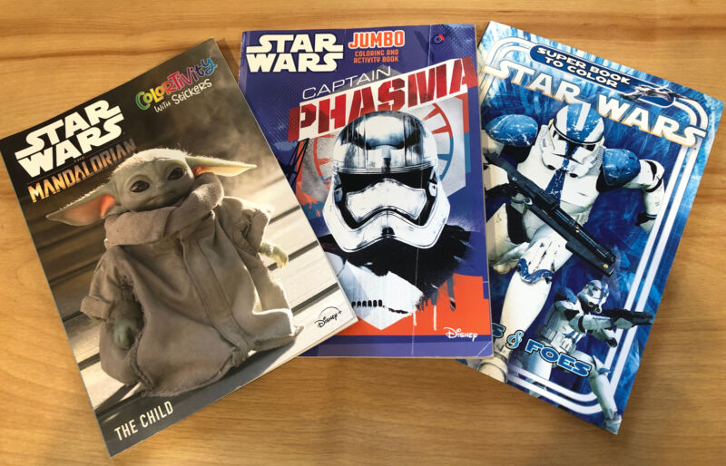 Star Wars Lot Coloring Activity Books Lot of 3 ~Unused ~Stickers In Mandalorian