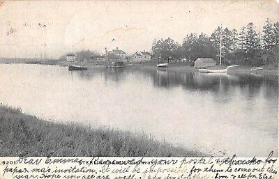 1907 Sterling Basin Greenport LI NY post card
