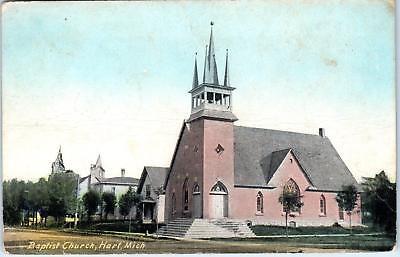 Hart  Mi Michigan    Baptist Church    1913   Postcard