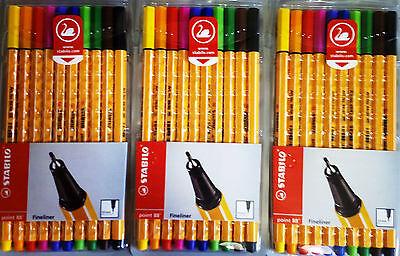 3x STABILO Pen 88 ETUI 10 je Stifte Fineliner 0,4mm