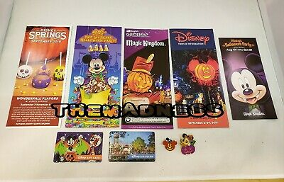 2018 Lot 9 Disney World Mickey's Not So Scary Halloween Party Pins Gift Cards - Disney Halloween Gift Cards