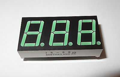 12 Pcs 7-segment 3-digit Common Anode Led Display. 1d2