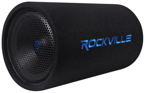 """Rockville RTB12A 12"""" 600w Powered Subwoofer Bass Tube + Bass Remote"""