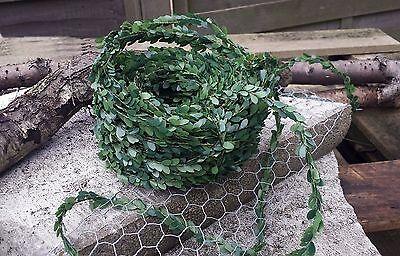 (0,50€/m) 30m Buchsbaumgirlande Grüngirlande für Fische Kreuze Buchs Tischdeko