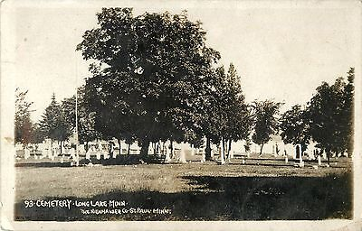 A View Of The Cemetery  Long Lake Mn Rppc 1910