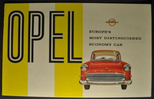 1958 Buick Opel Sales Brochure Folder Rekord Caravan Wagon Excellent Original 58