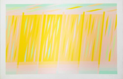 Martin Canin: 7905 (Yellow), 1972. Signed, Numbered, Color, Fine Art Print.