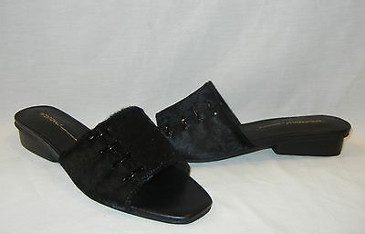 Intentionally Blank Women's Talk Leather Flats Slides Retail $180 size 8