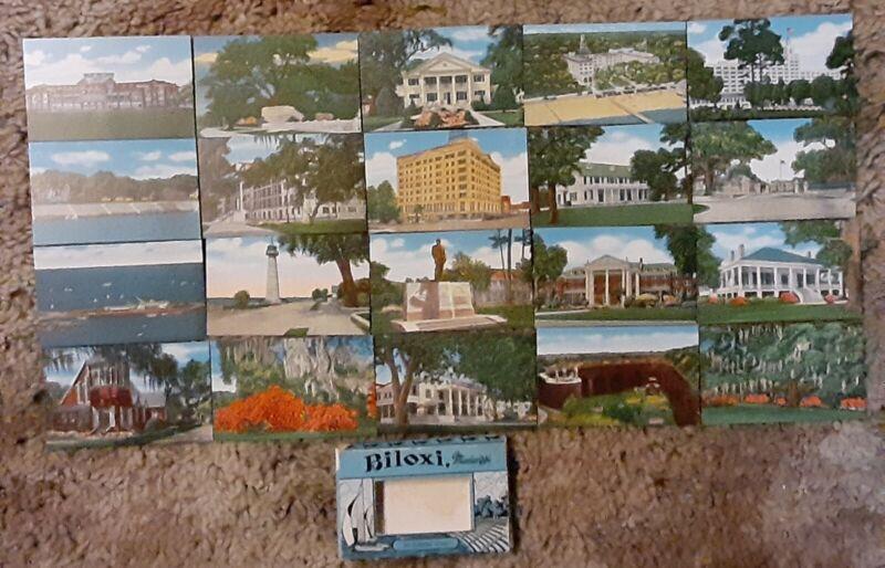 Biloxi Mississippi Vintage Mini Picture Set
