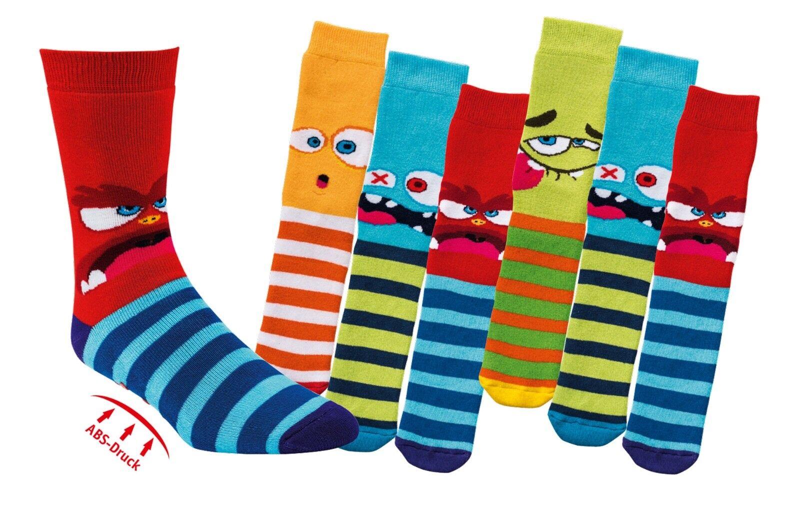 3 Paar lustige Kinder ABS Stopper-Socken Fliesenflitzer - viele Motive  19 - 38