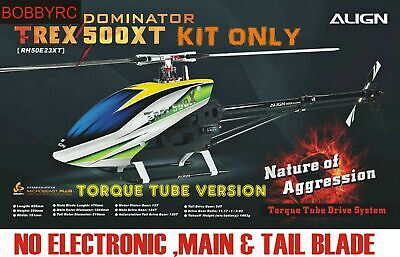 Used, Align Trex 500 XT Dominator 500 Sized Electric (Torque Tube Version)Helicopter  for sale  USA