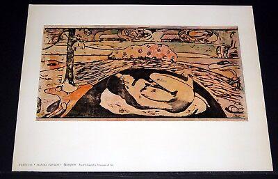 "OLD ART PRINT, ""MANAO TUPAPAO"" BY GAUGUIN!"