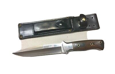 Vintage Al Mar Model 3005.6 Sere Fighting Dagger Knife Micarta Handle Sheath