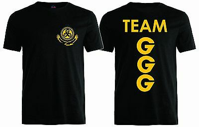 Team Ggg Gennady Golovkin Unisex T Shirt  Boxing Team Shirt  Front Back  S 4Xl