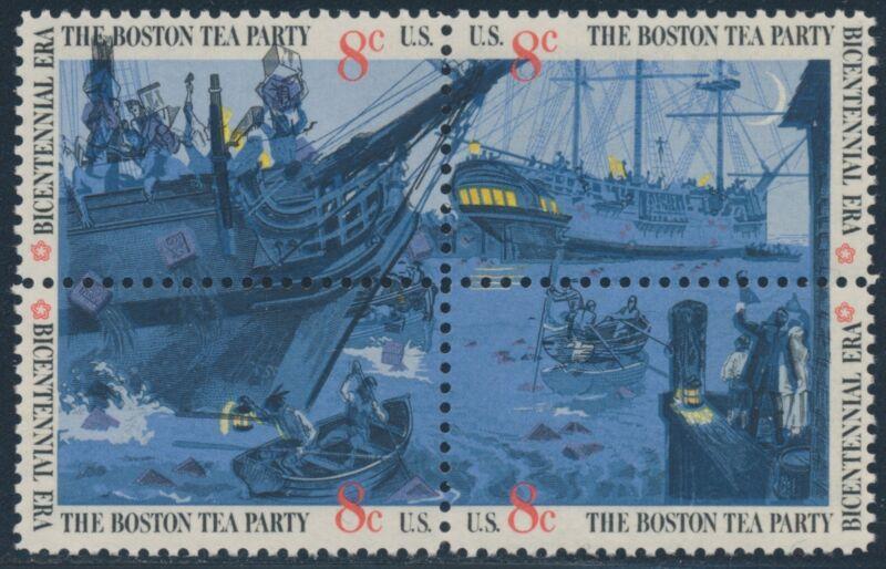 "#1483a Var. ""boston Tea Party"" Black (engr) Major Shift Error Bs2213"