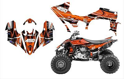 2014 - 2019 YFZ450R 450SE graphics wrap kit Free Custom Service #2001 Orange