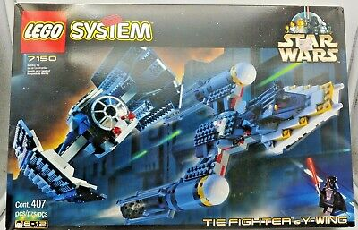 LEGO STAR WARS 7150 VADER'S TIE FIGHTER & Y-WING NIB FACTORY SEALED 1999