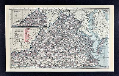 c1930 Hammond Railroad Map Virginia Richmond Norfolk Washington Alexandria RR