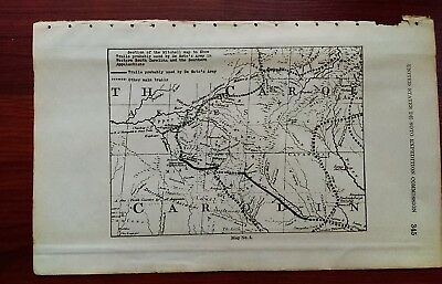 1936 Desoto Commission Sketch Map Showing Trails Used by Army in Appalacians
