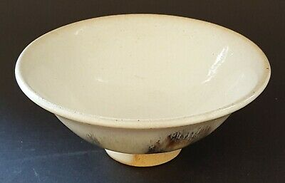 Malaysian white glaze ceramic conical bowl