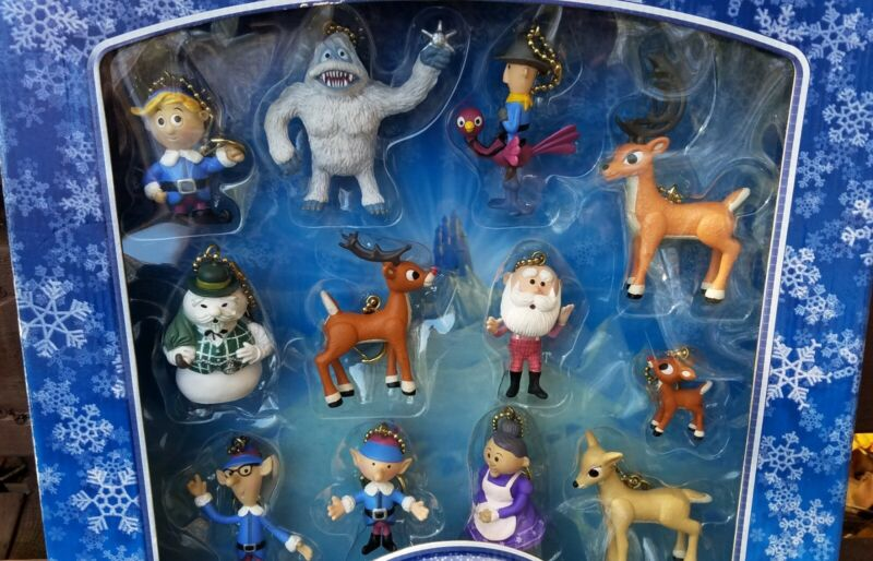 Rudolph the Red-Nosed Reindeer Holiday Clip-On Collection 2003 Great Condition!