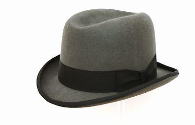 grau 100% Wolle Hohe Qualität Hart TOP Churchill - Qualität Top Filzhut