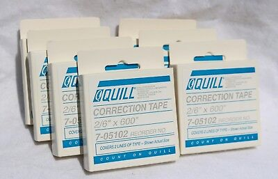 Lot Of 7 Quill Correction Tape 26 X 600 Reorder No 7-05102 Nib
