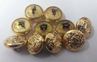 Original Nigerianisch Issue Unity und Faith Abzeichen Gold Ring Knöpfe 13mm X10 ()
